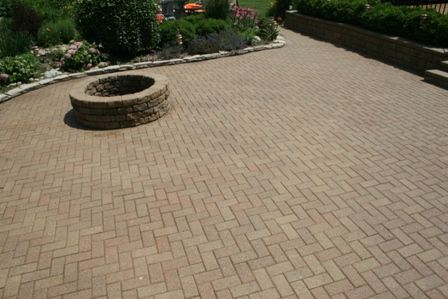 Concrete Brick Paver Patio Cleaning and Wet Look Sealer St. Charles, IL