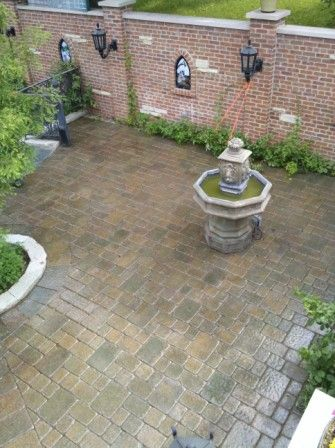 CLEANING AND SEALING BRICK PAVERS AT BAR IN DUNDEE, IL 2