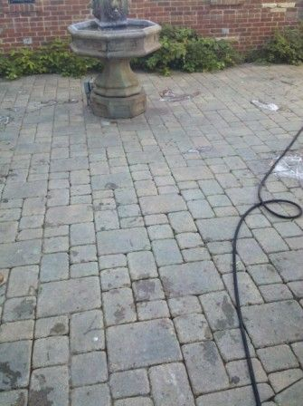 how to clean brick patio