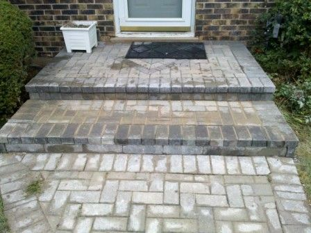 Brick Paver Step Repair Failing Front Porch Steps Il