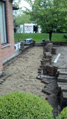 Brick Paver Patio Repairs, Cleaning & Sealing in Barrington IL Unilock-2