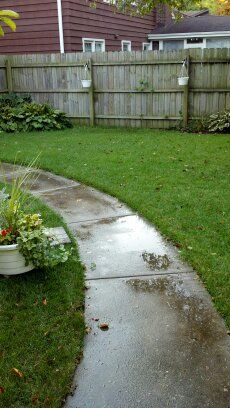 Cement Patio & Sidewalk Power Washing in St. Charles, IL & Surrounding Areas-1