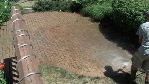 Power Washing Brick Paver Patios in Illinois-4