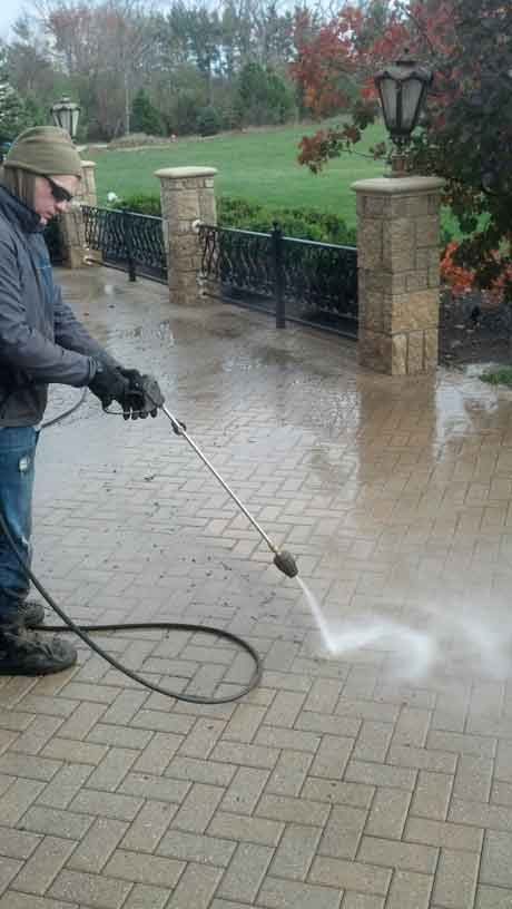 Power Washing Brick Paver Patios In Illinois Il Stone