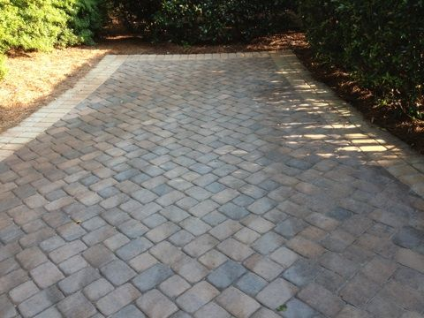What Happens When Amateurs Seal Brick Pavers-3