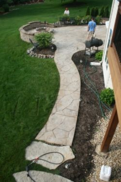 Barrington stamped concrete cleaning contractor for Natural concrete cleaner