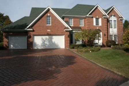 WET LOOK BRICK PAVER DRIVEWAY SEALING IN BARRINGTON ILLINOIS ct drive after
