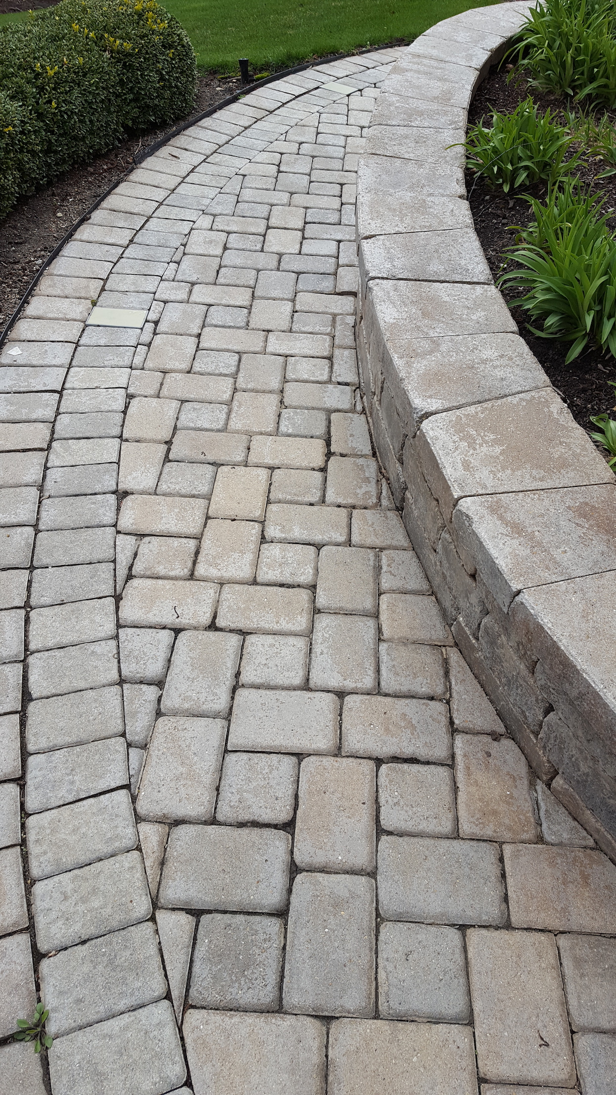 White Hazy Failing Brick Paver Sealer