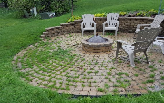 Weeds in brick paver joint sand