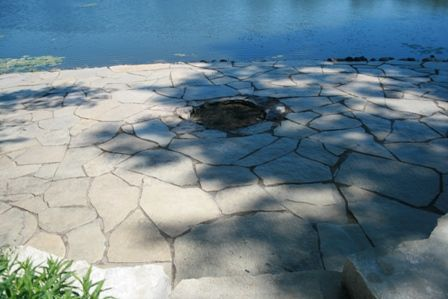 Flagstone Cleaning and Joint Sanding in South Barrington, IL - after